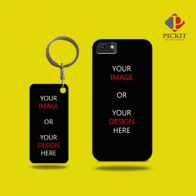 Mobile Cover + Keychain